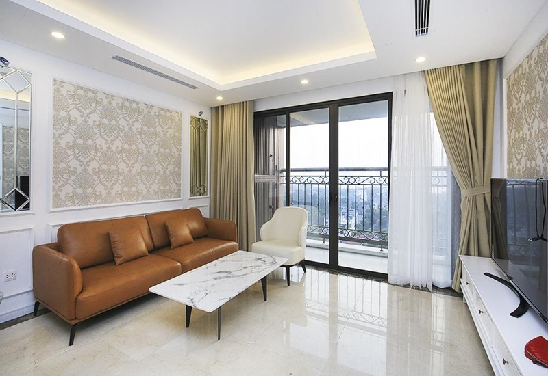 Balcony apartment for rent with 02 bedrooms in D'Le Roi Soleil on Dang Thai Mai, Tay Ho