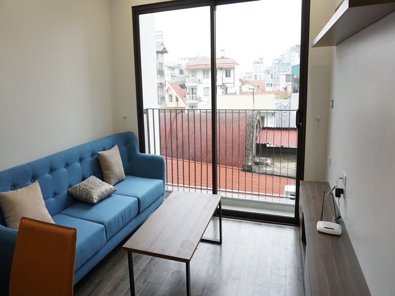 Balcony, nice apartment for rent with 01 bedroom in Tay Ho