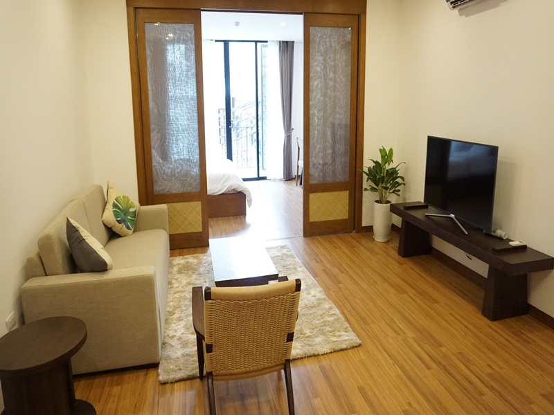 Brand new serviced apartment with 01 bedroom for rent in Hoan Kiem