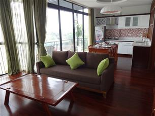 Lake view, serviced apartment with 03 bedrooms for rent in Tay Ho