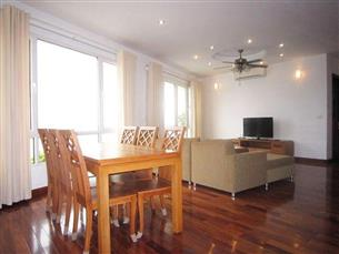 Lake view serviced apartment with 02 bedrooms for rent in Tay Ho