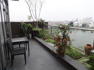 Lake view, big balcony serviced apartment for rent with 02 bedrooms in Dong Da