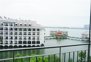 Lake view, balcony serviced apartment for rent with 02 bedrooms  in Tu Hoa, Tay Ho