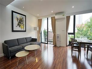 Balcony serviced apartment for rent with 02 bedrooms in Tay Ho, Tay Ho district