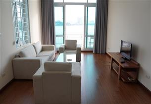 Lake view serviced apartment with 02 bedrooms for rent in Yen Hoa, Tay ho